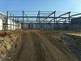 Aber dann geht der Stahlbau mit großen <br />Schritten voran
