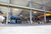 8 Sattelzüge haben gleichzeitig <br />Platz in unserer Fahrstra&szlig;e